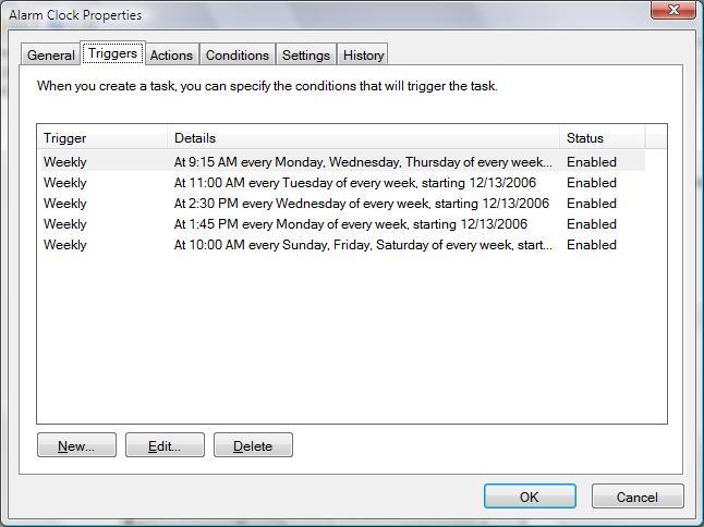 Ziyan Zhou: Windows Vista - Advance Task Schedule